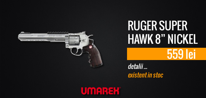 RUGER SUPER HAWK 8 NICKEL