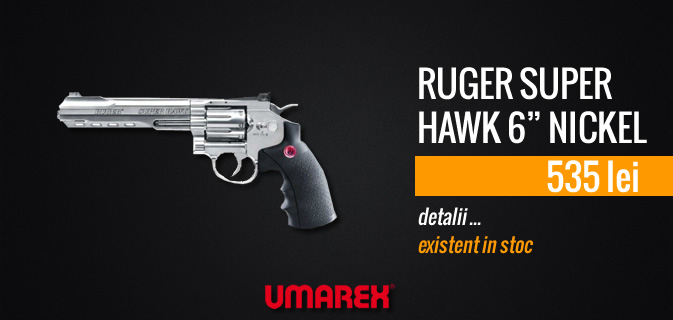 RUGER SUPER HAWK 6 NICKEL