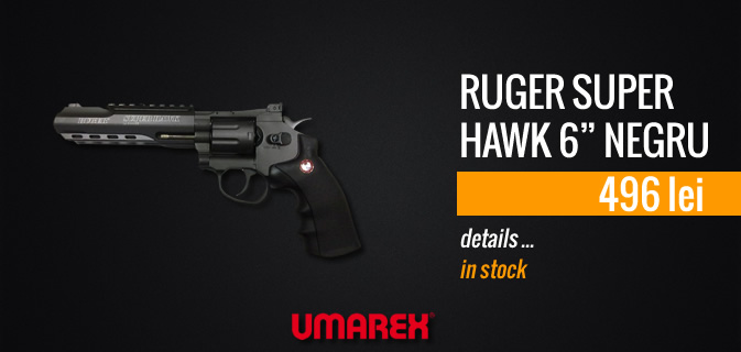 RUGER SUPER HAWK 6 BLACK